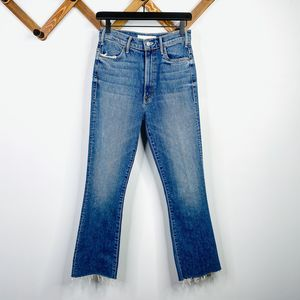 MOTHER superior hustle ankle fray jeans 26